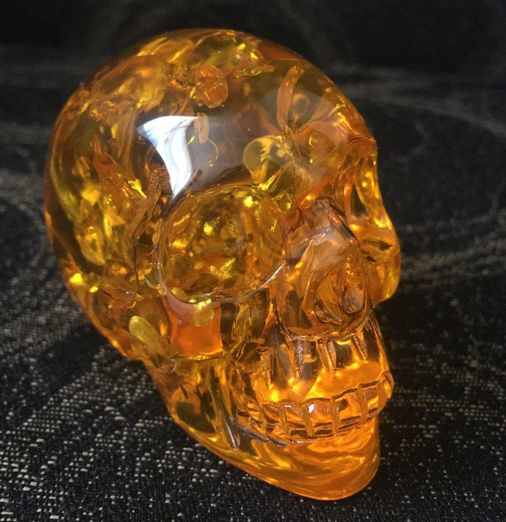Amber skulls