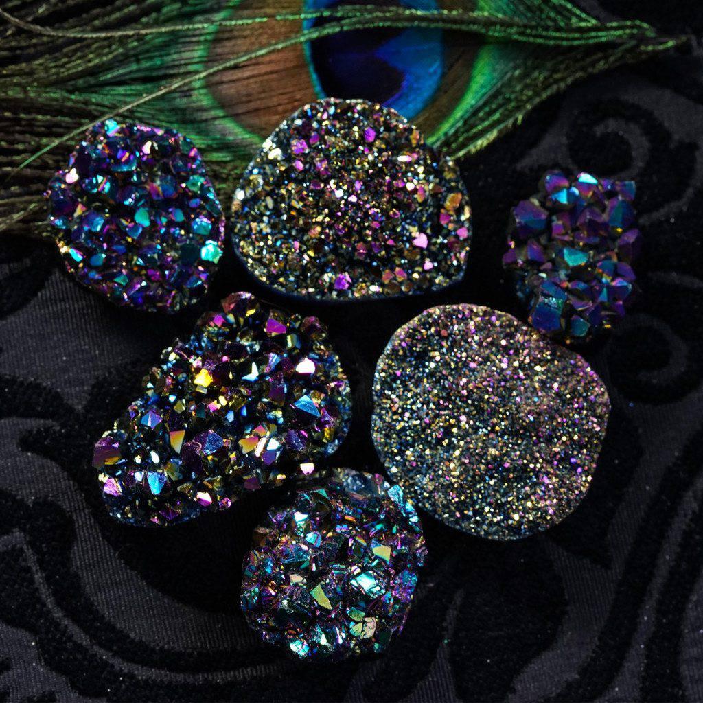 Titanium Aura Citrine Mini-Clusters