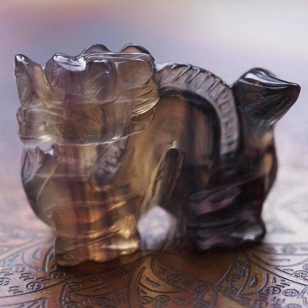Fluorite dragons