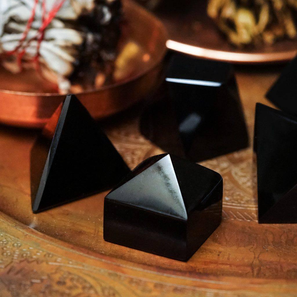 black obsidian shapes