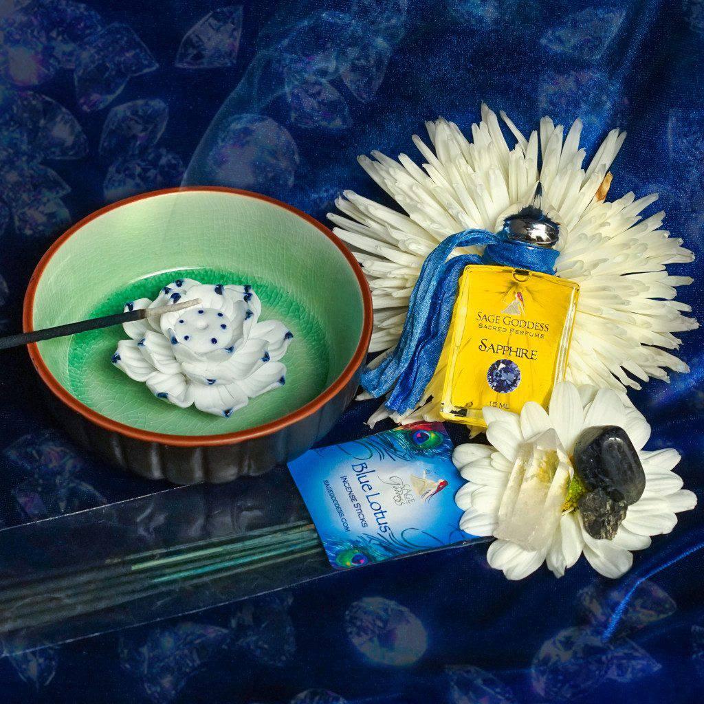 sapphire pyschic attunement set - Sage Goddess