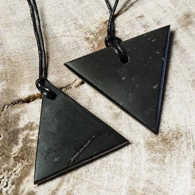 Shungite triangles