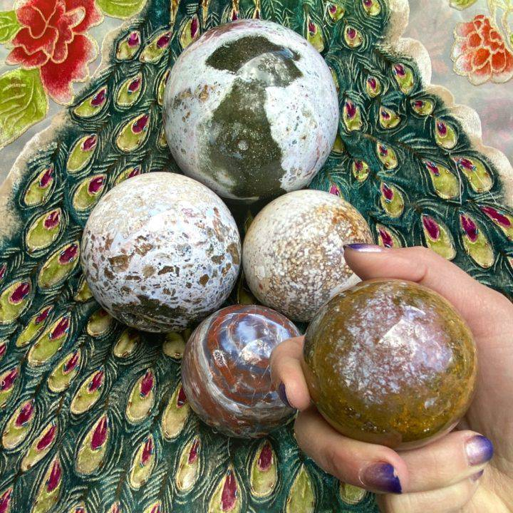 Spirit Lifting Ocean Jasper Spheres