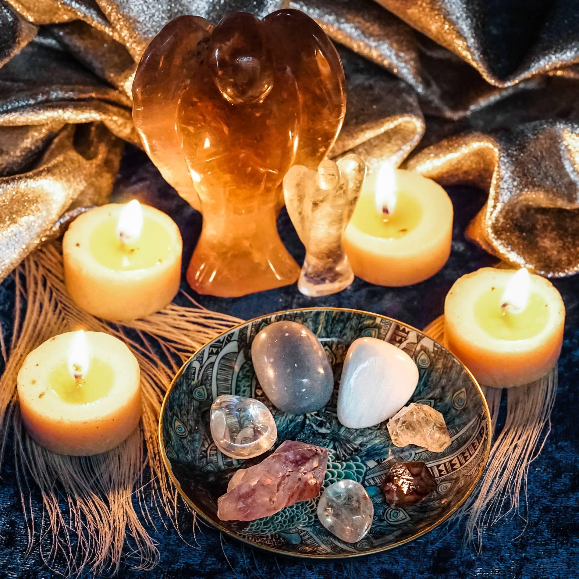 angel guides gemstone set
