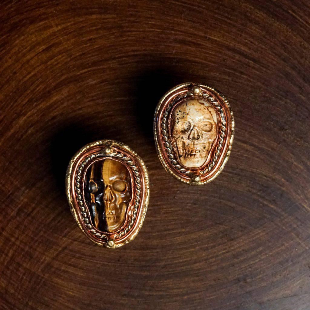 gemstone skull ring