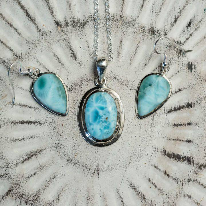 larimar jewelry sets
