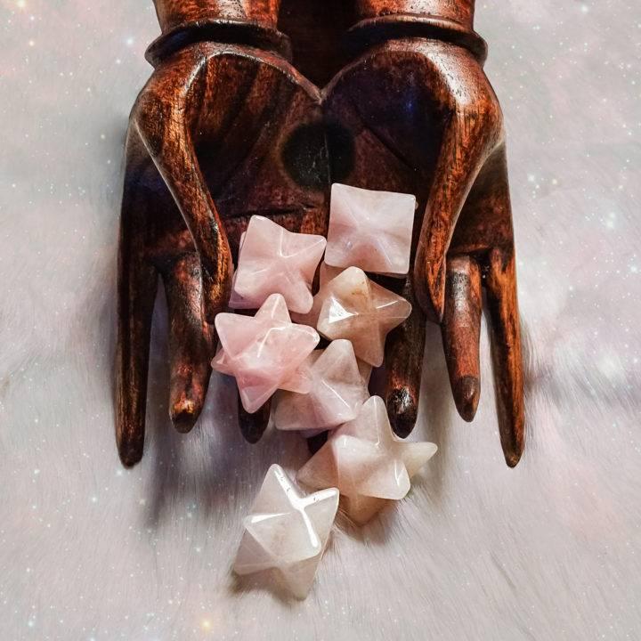 rose quartz merkabas