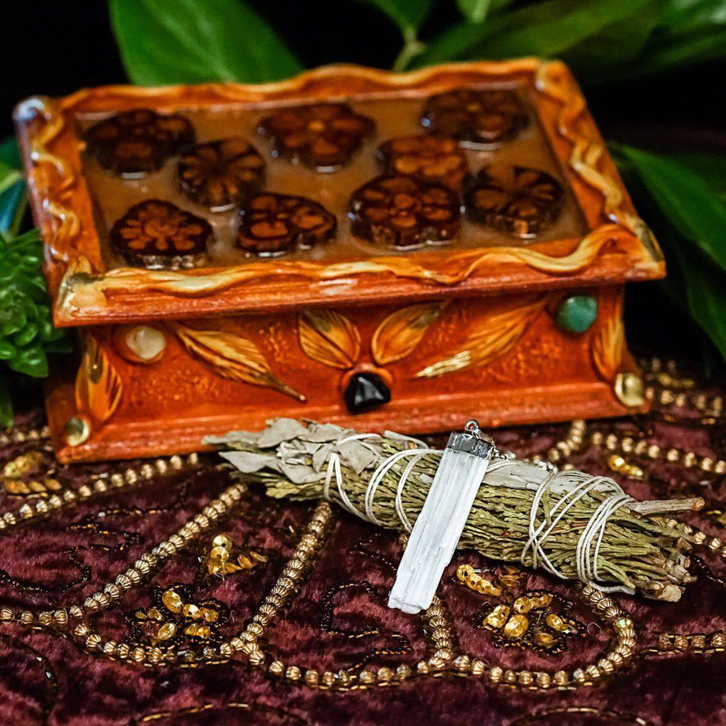 spirit vine box and spiritual tools