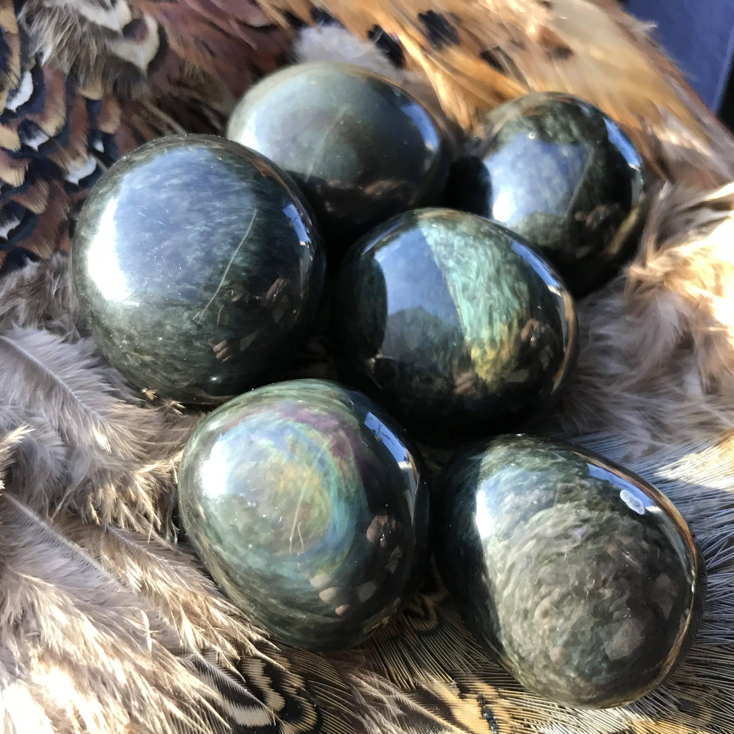 velvet sheen obsidian pebbles