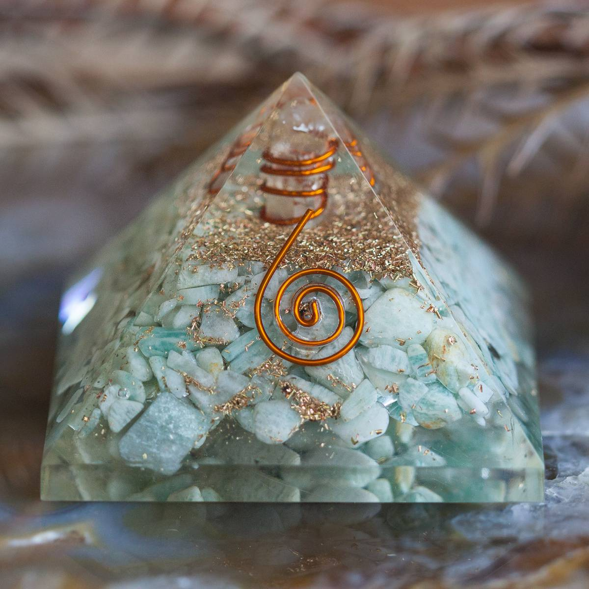 Amazonite Orgonite Pyramid 6_1.Primary