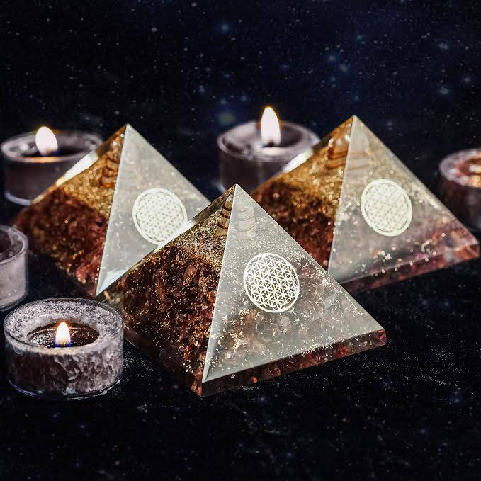 Garnet Orgonite Pyramids