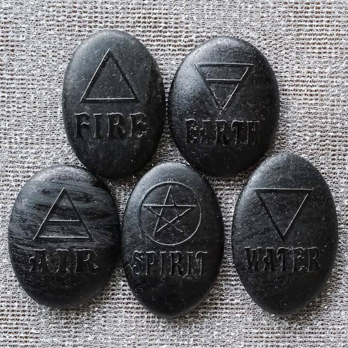 Black Obsidian Five Elements Set