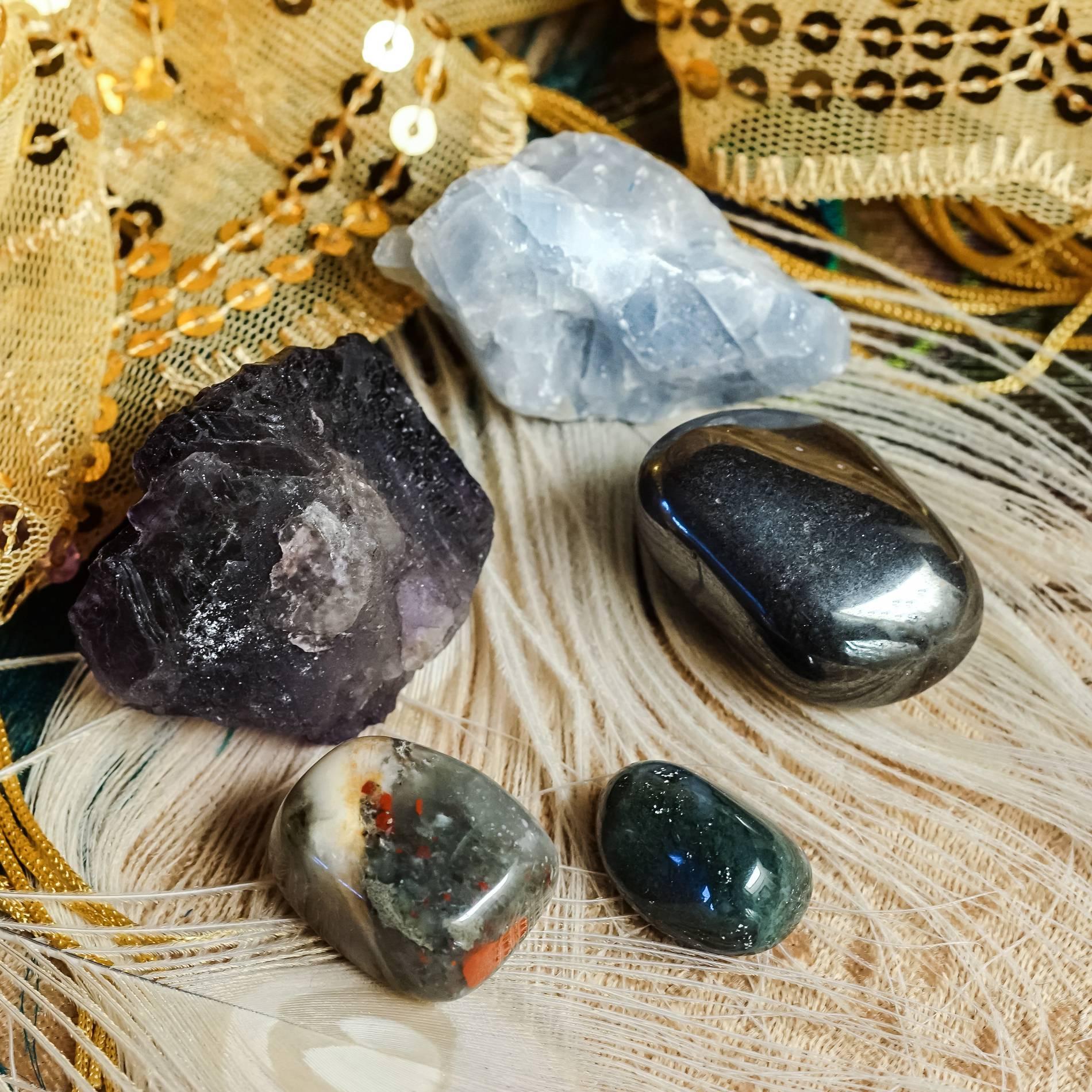 gentle healing gemstone set
