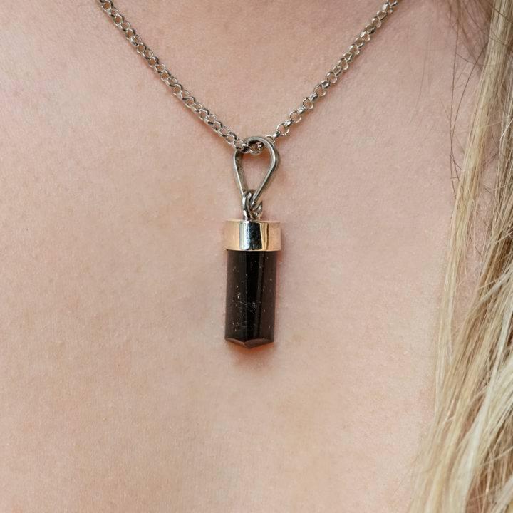 grade a black tourmaline pendants