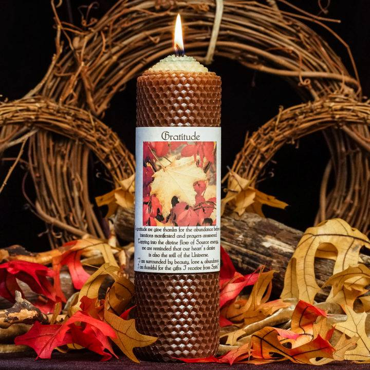 gratitude candle for thanksgiving