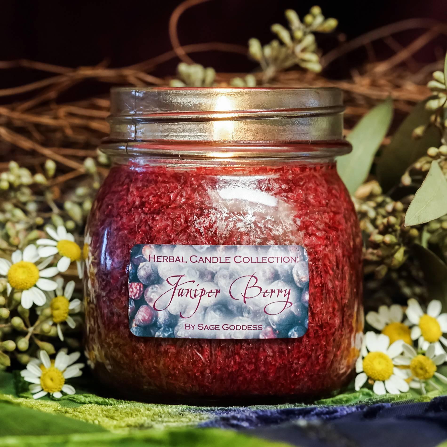 juniper berry herbal candle