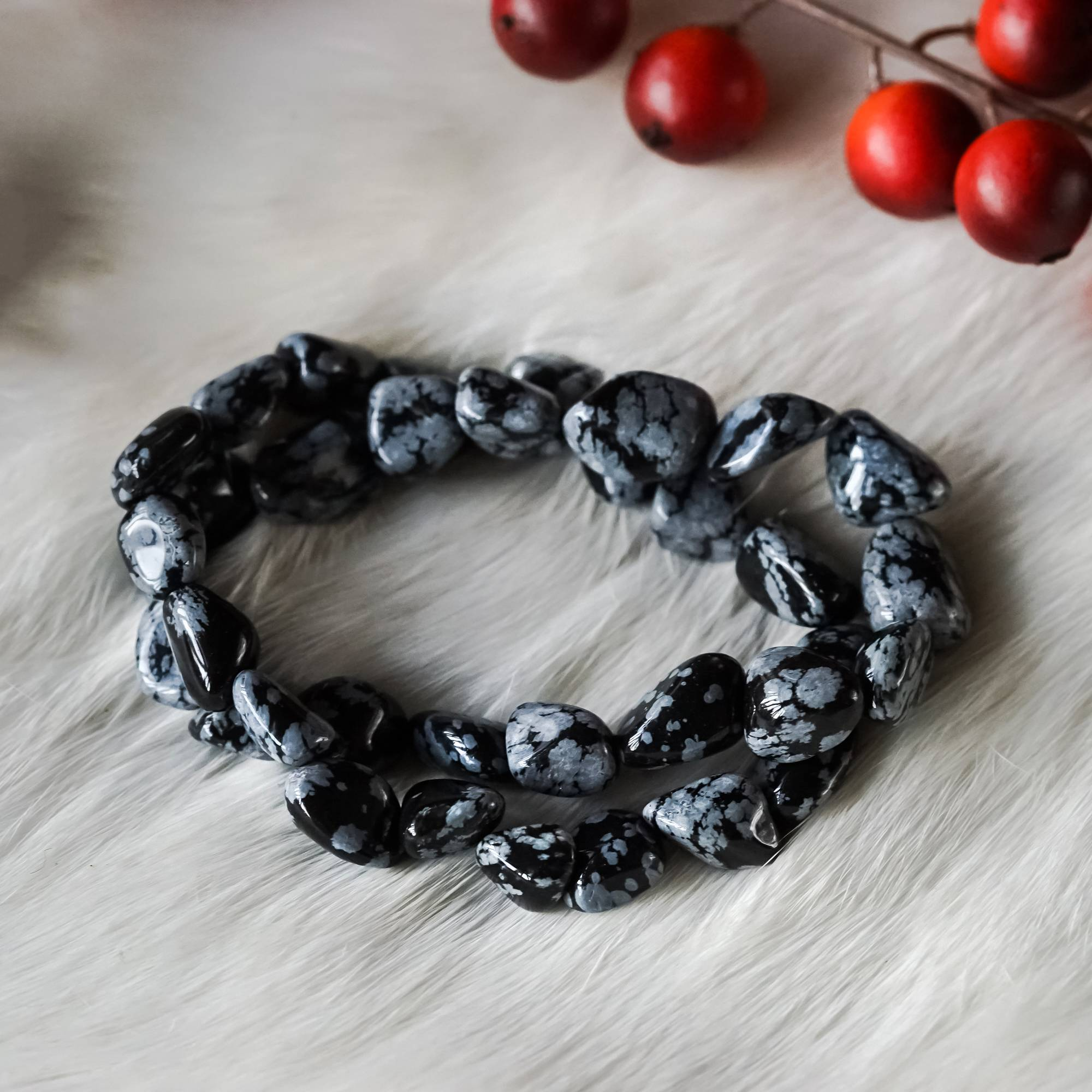Snowflake Obsidian Bracelets For Revelation And Shadow Integration