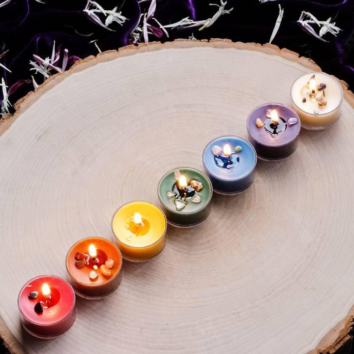 chakra tea light set