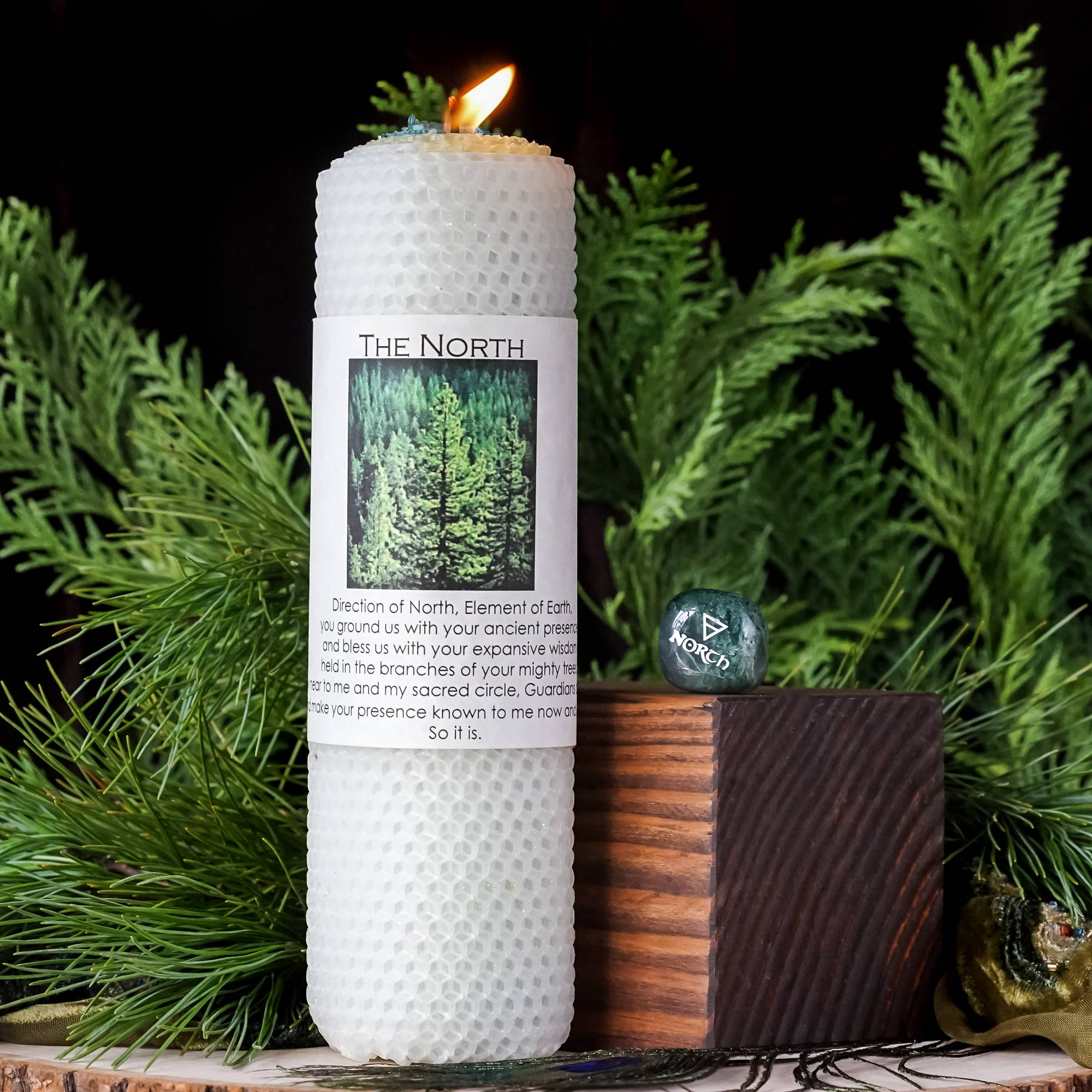 north candle and stone duo