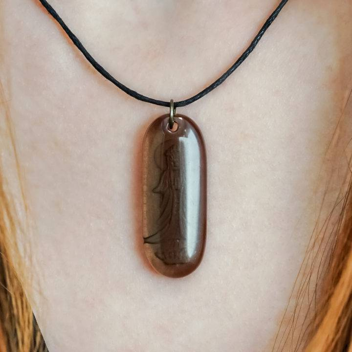 quan yin smoky quartz pendants