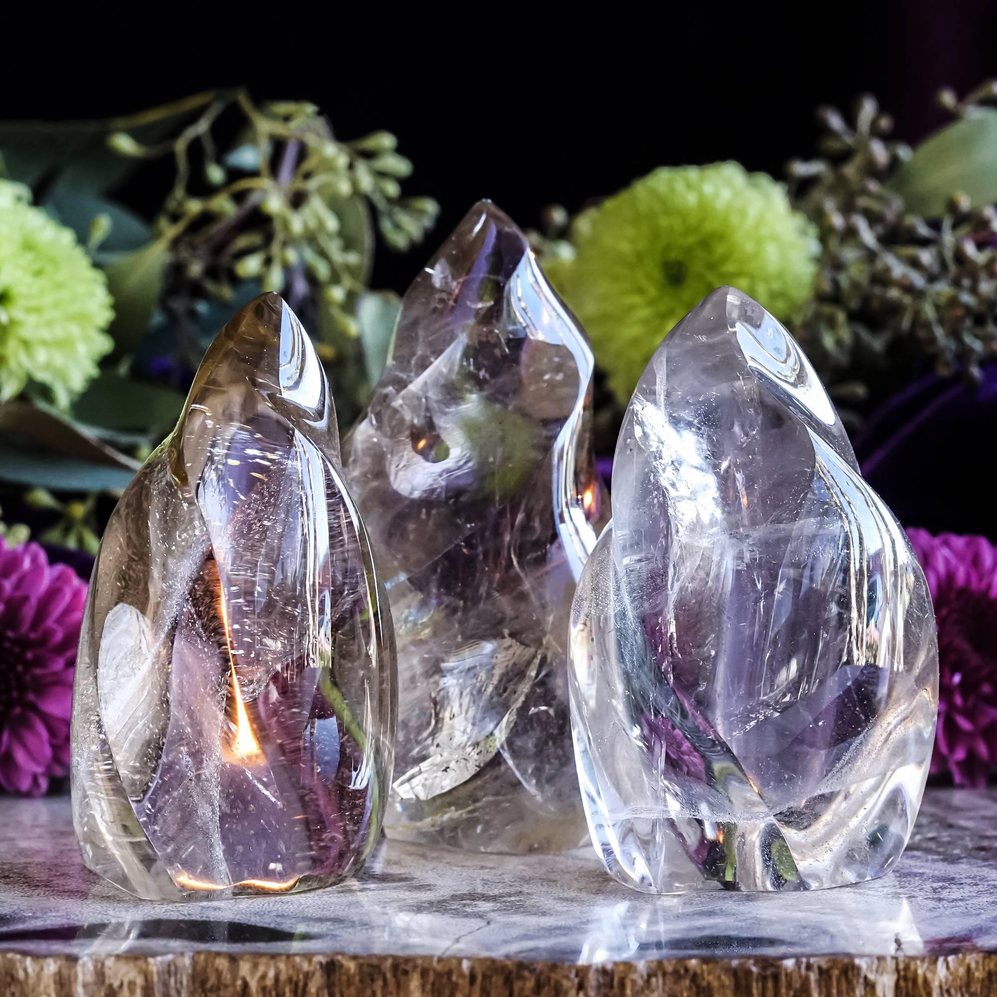smoky quartz flames
