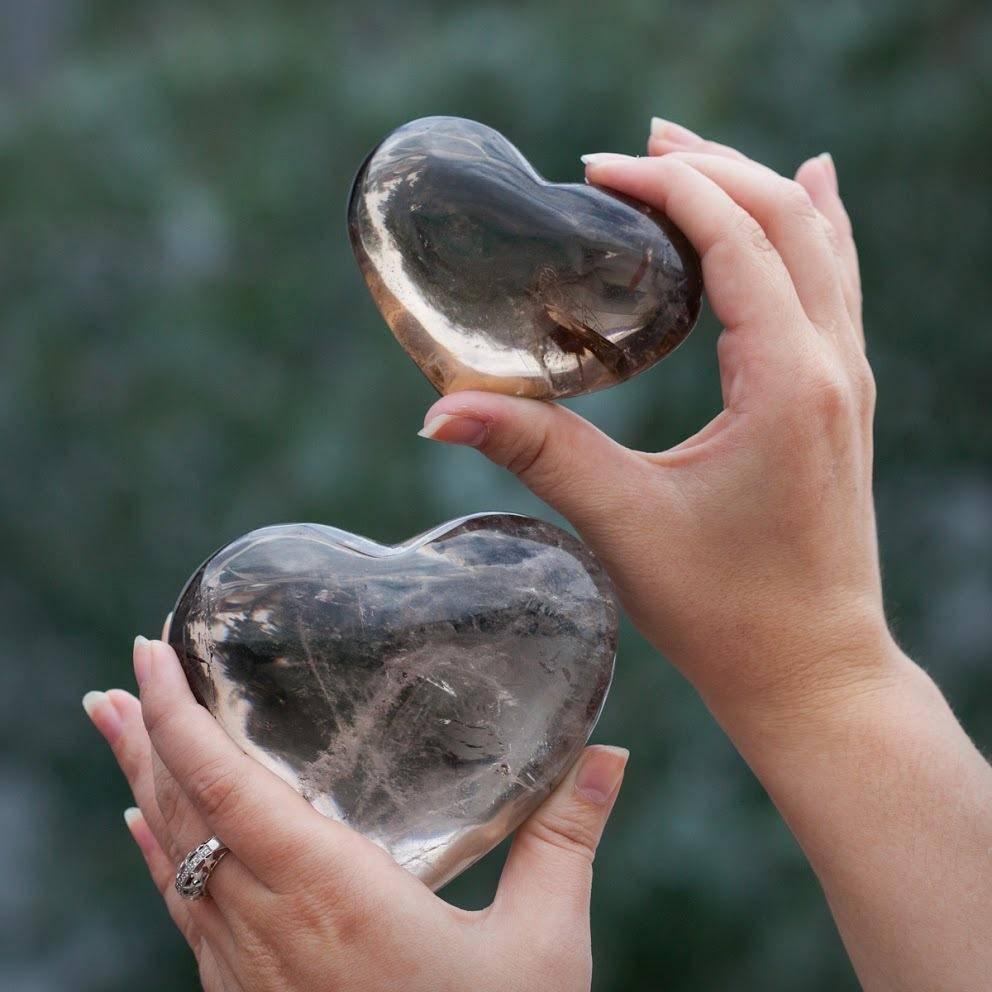 Smoky Quartz Heart
