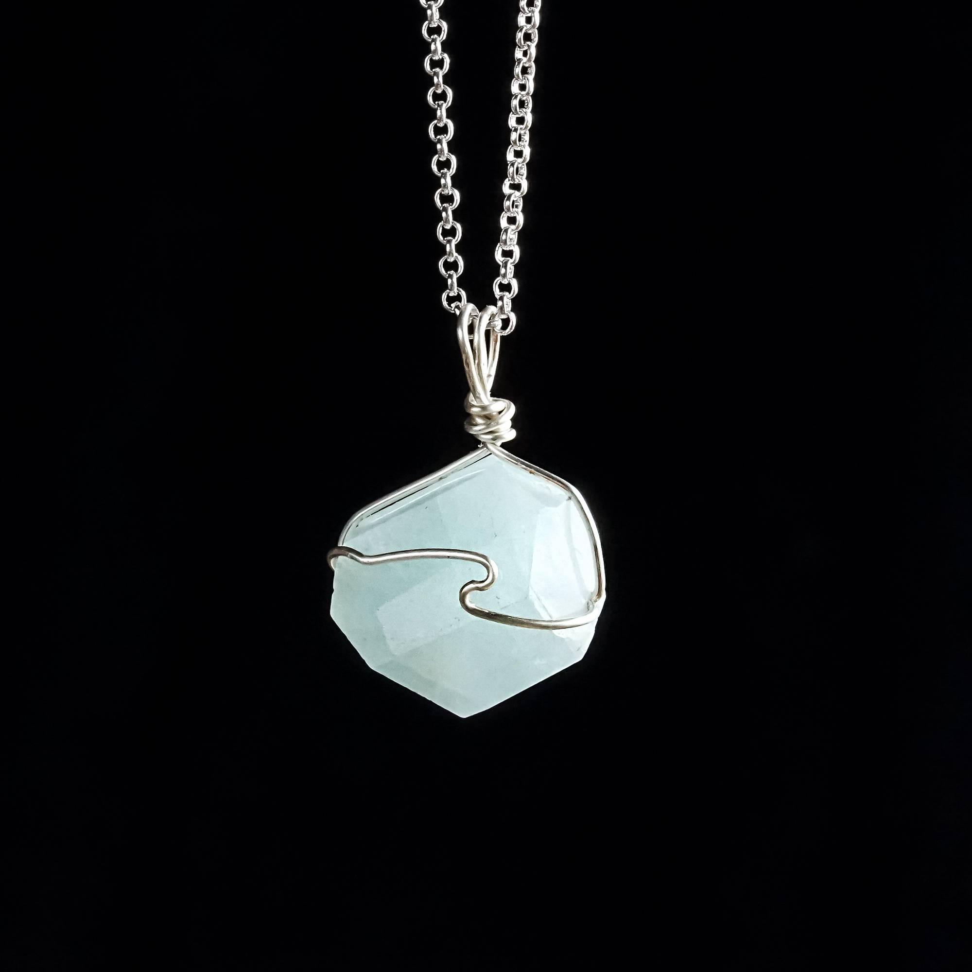 Aquamarine Drop Necklaces
