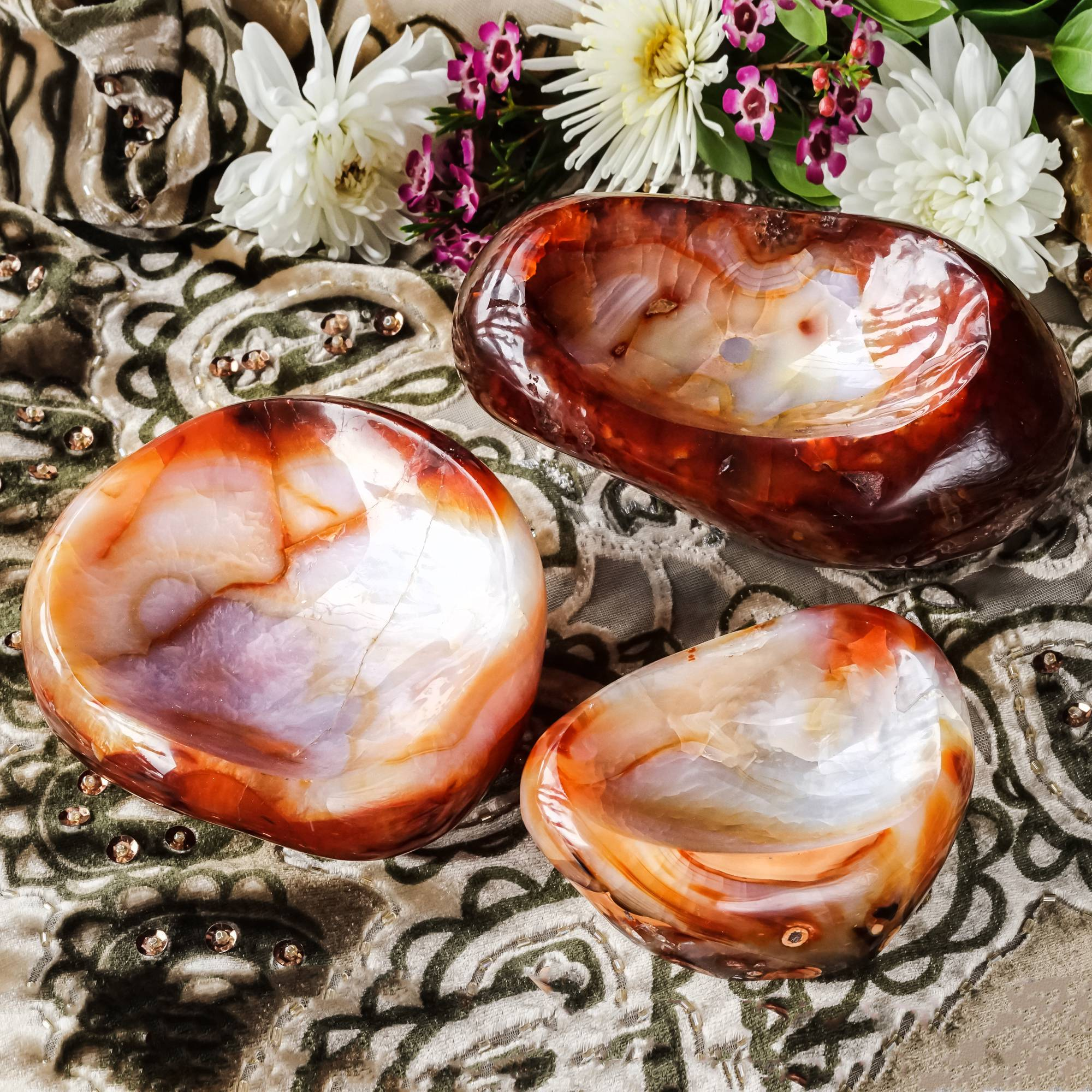 carnelian altar bowls