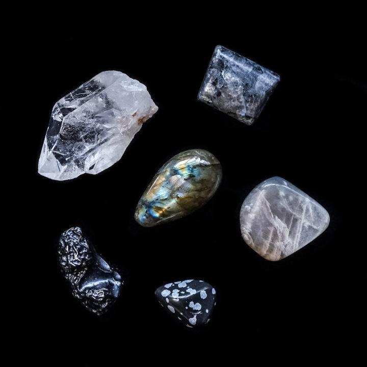 dark moon ritual set gemstone set