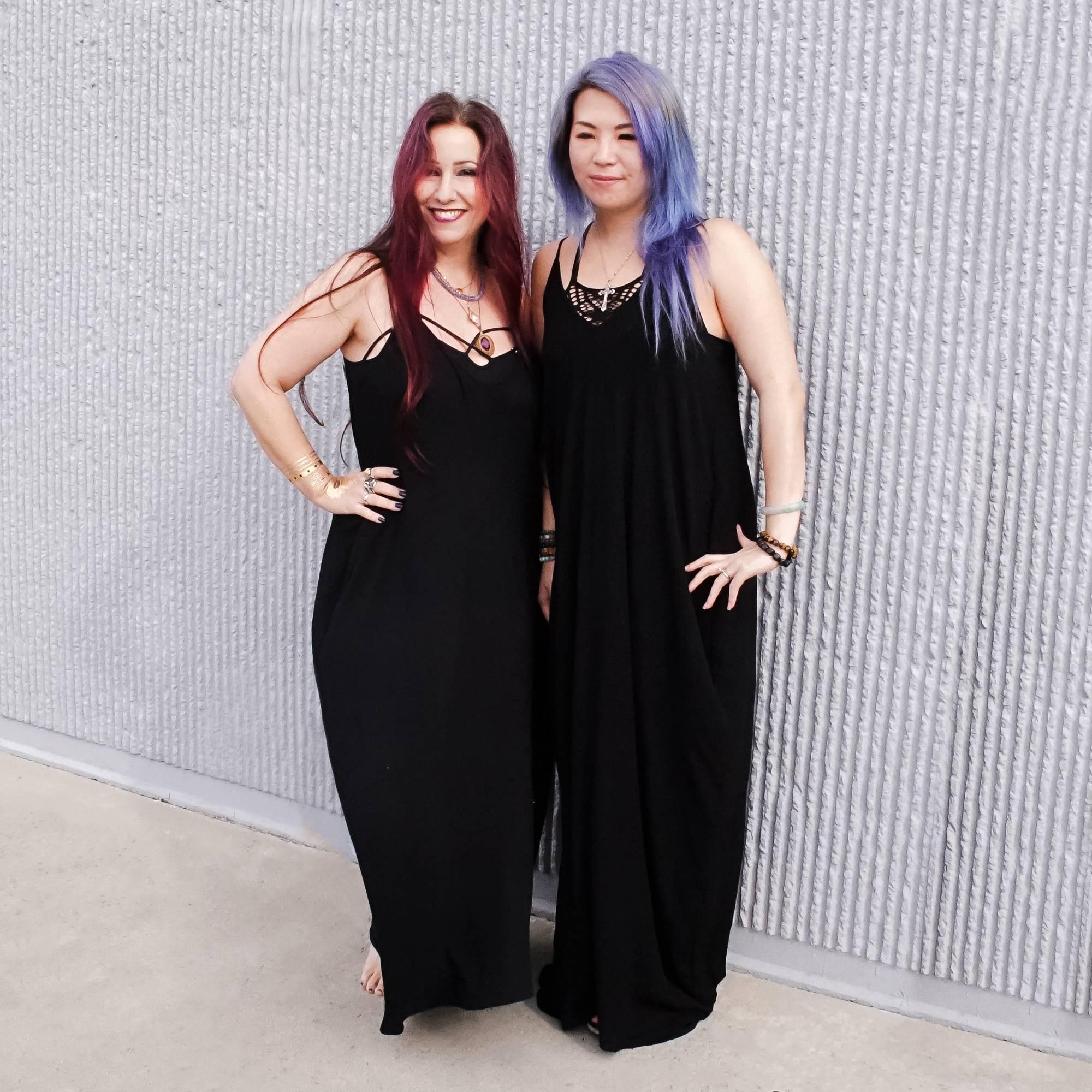 flowy little black dress