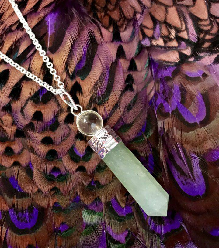 green aventurine pendants
