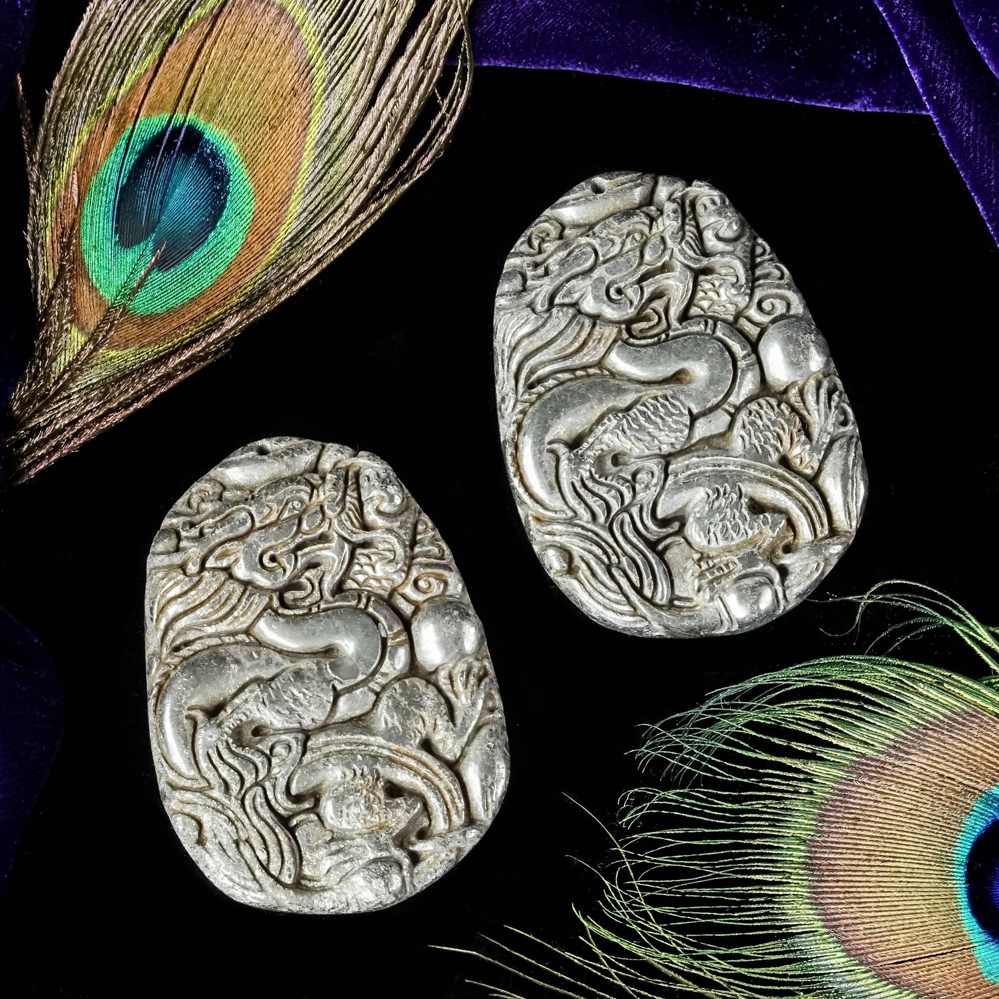 Pyrite Dragon Talismans