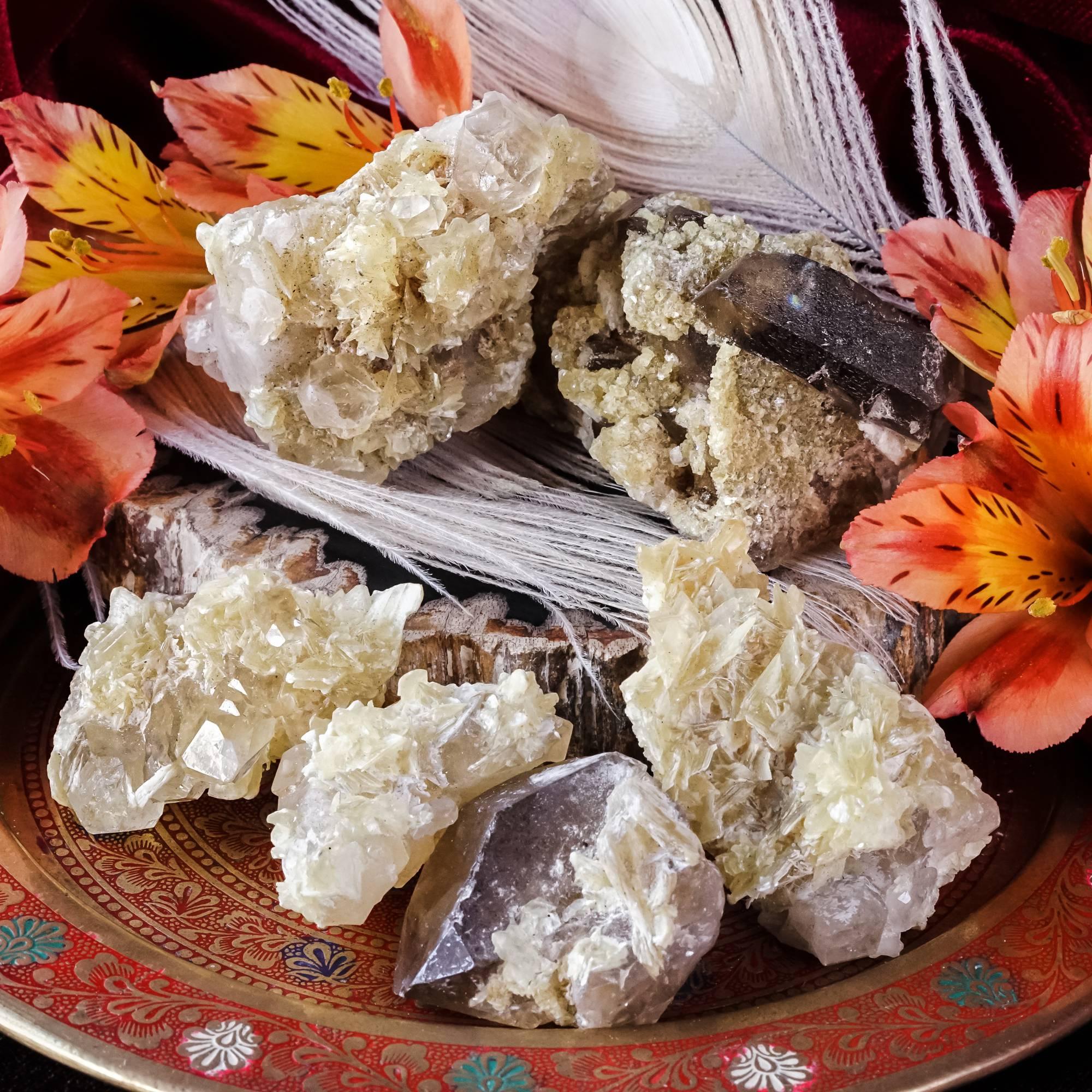 star mica on quartz specimens