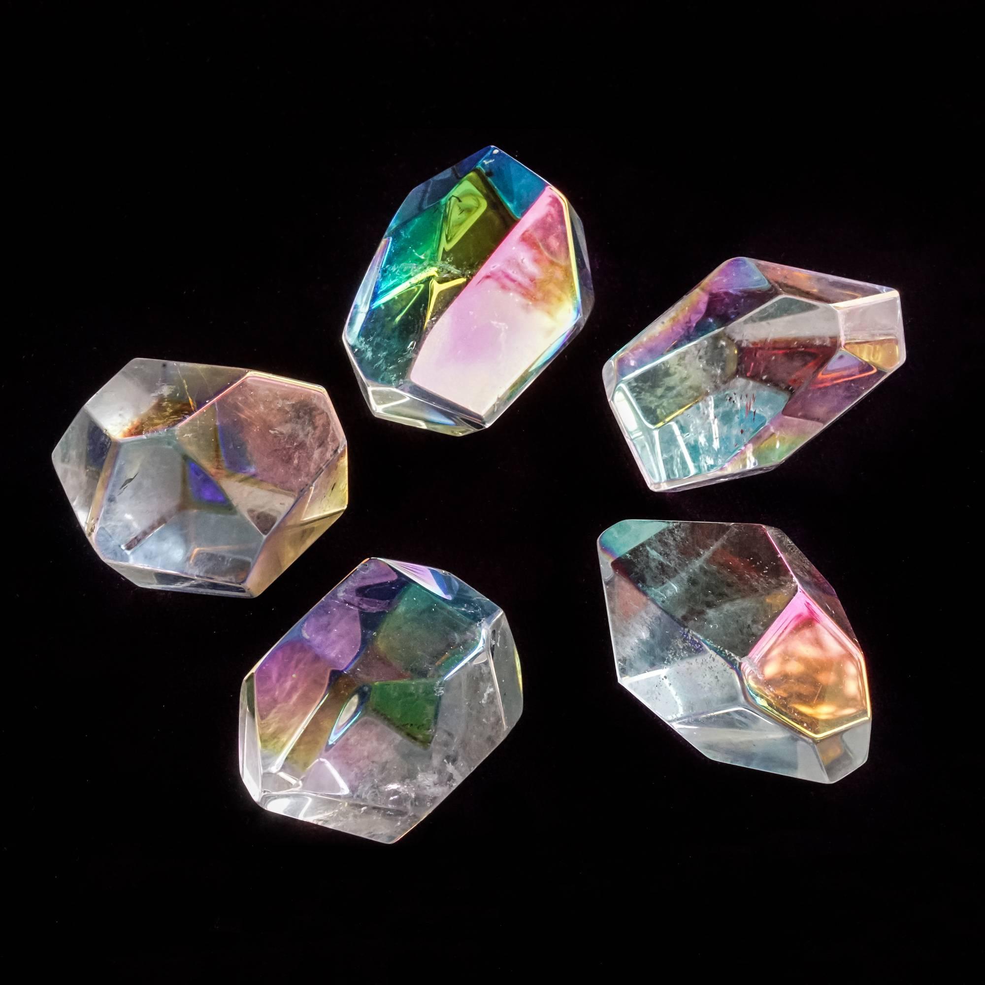 angel aura quartz crystals