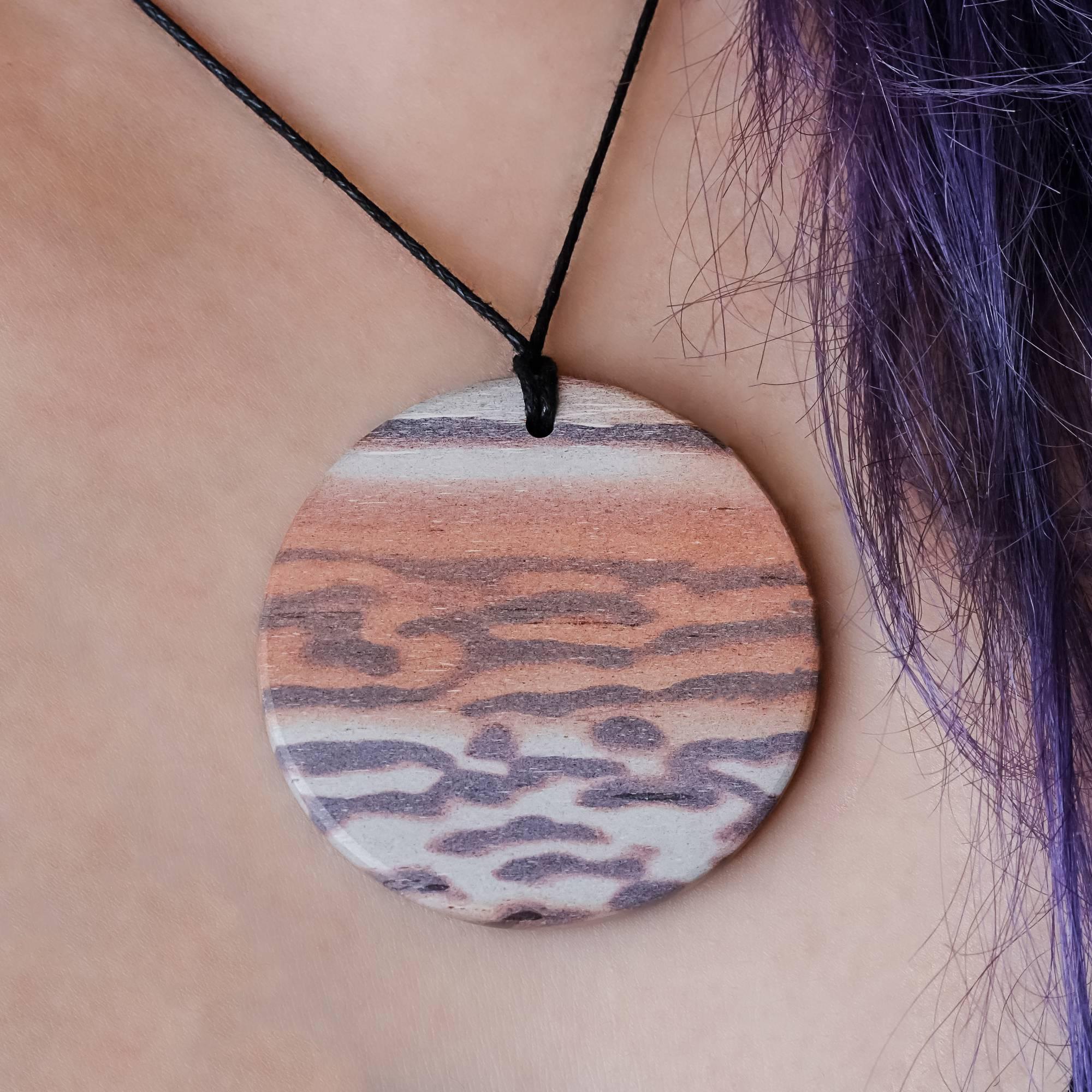 banded print jasper necklaces