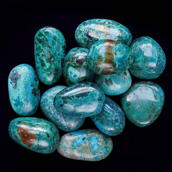 chrysocolla palm stones