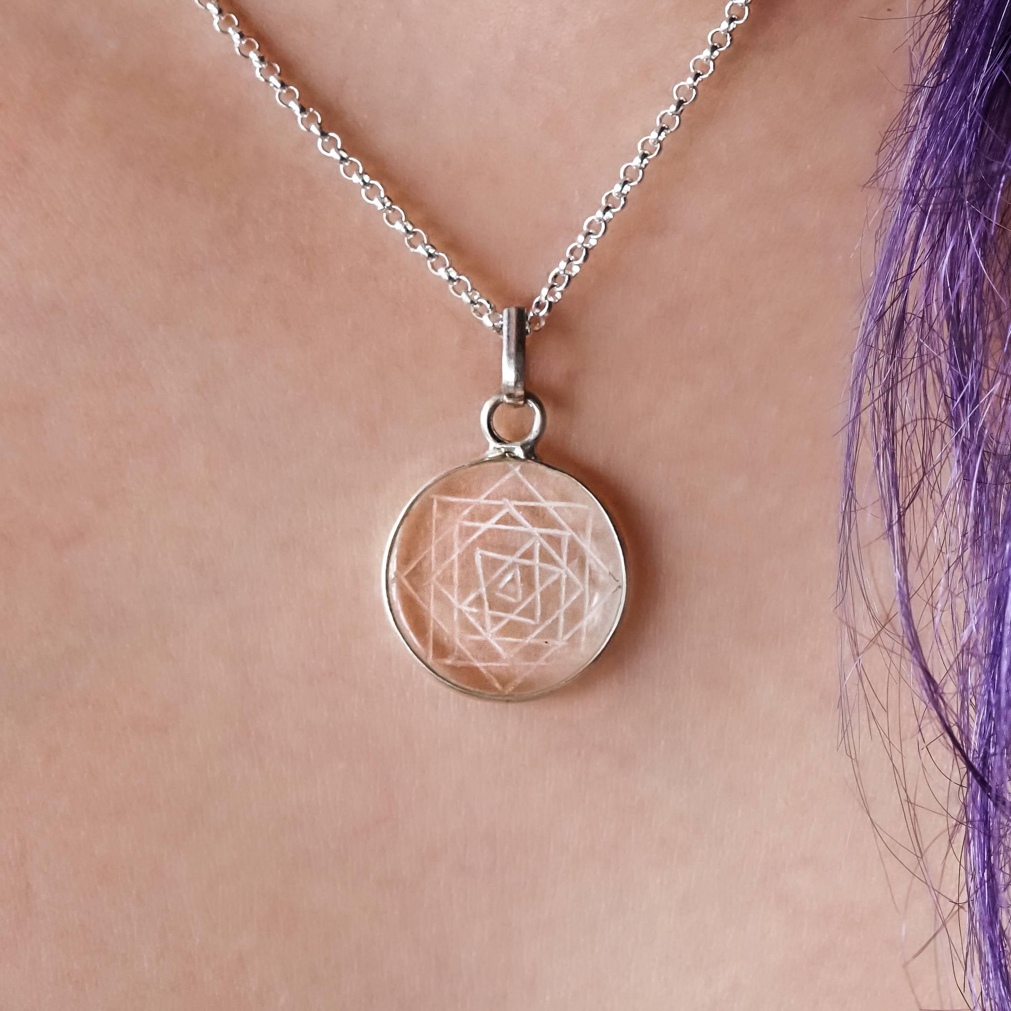 clear quartz intuitive pendants