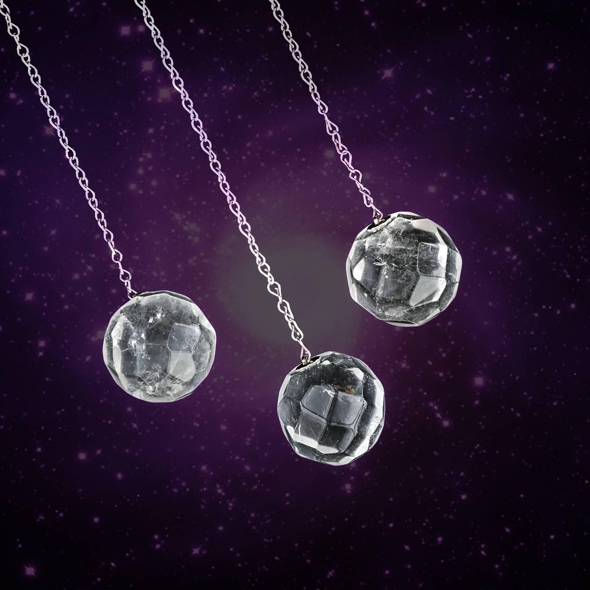 clear quartz pendulums