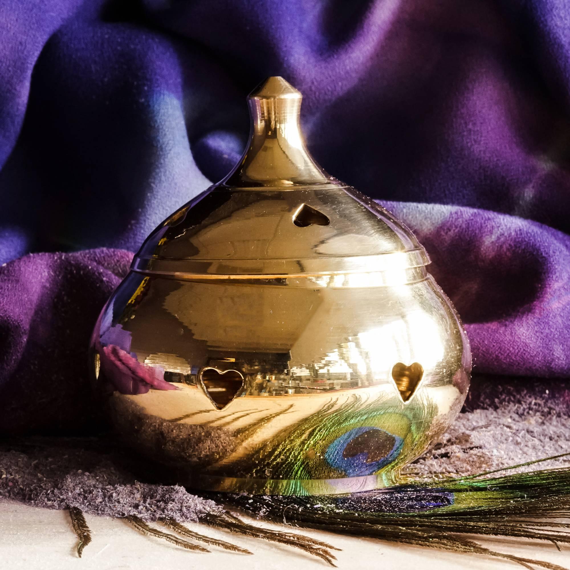 heart incense burners