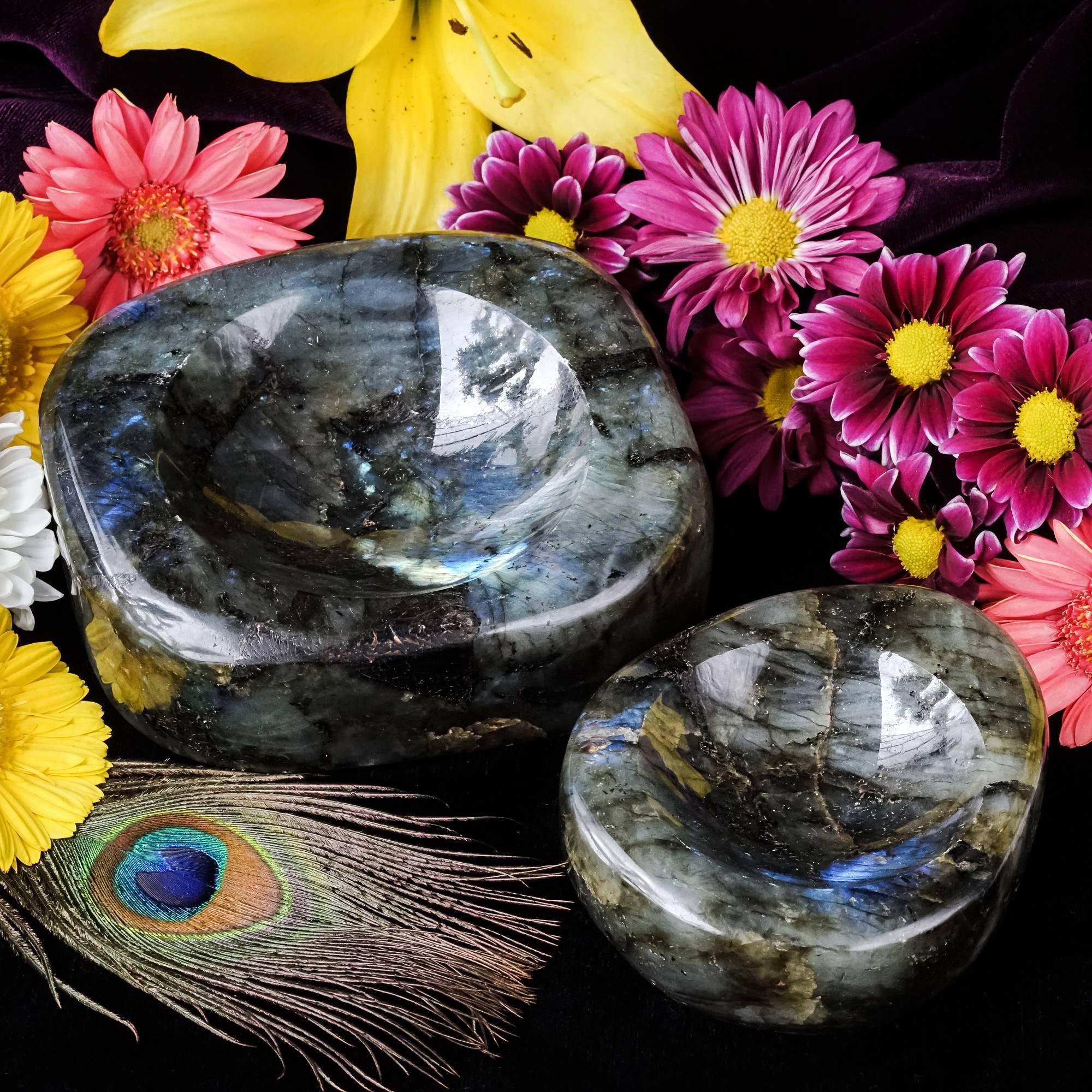 labradorite altar bowls