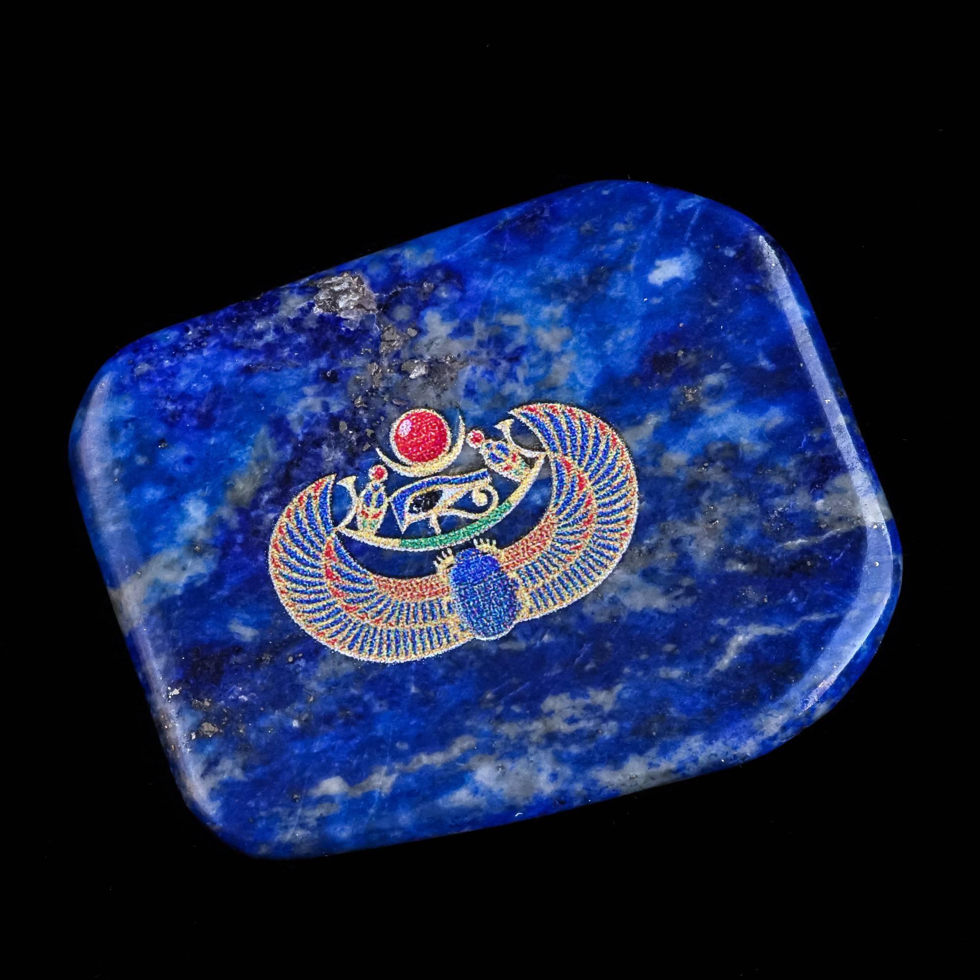 lapis stone with scarab