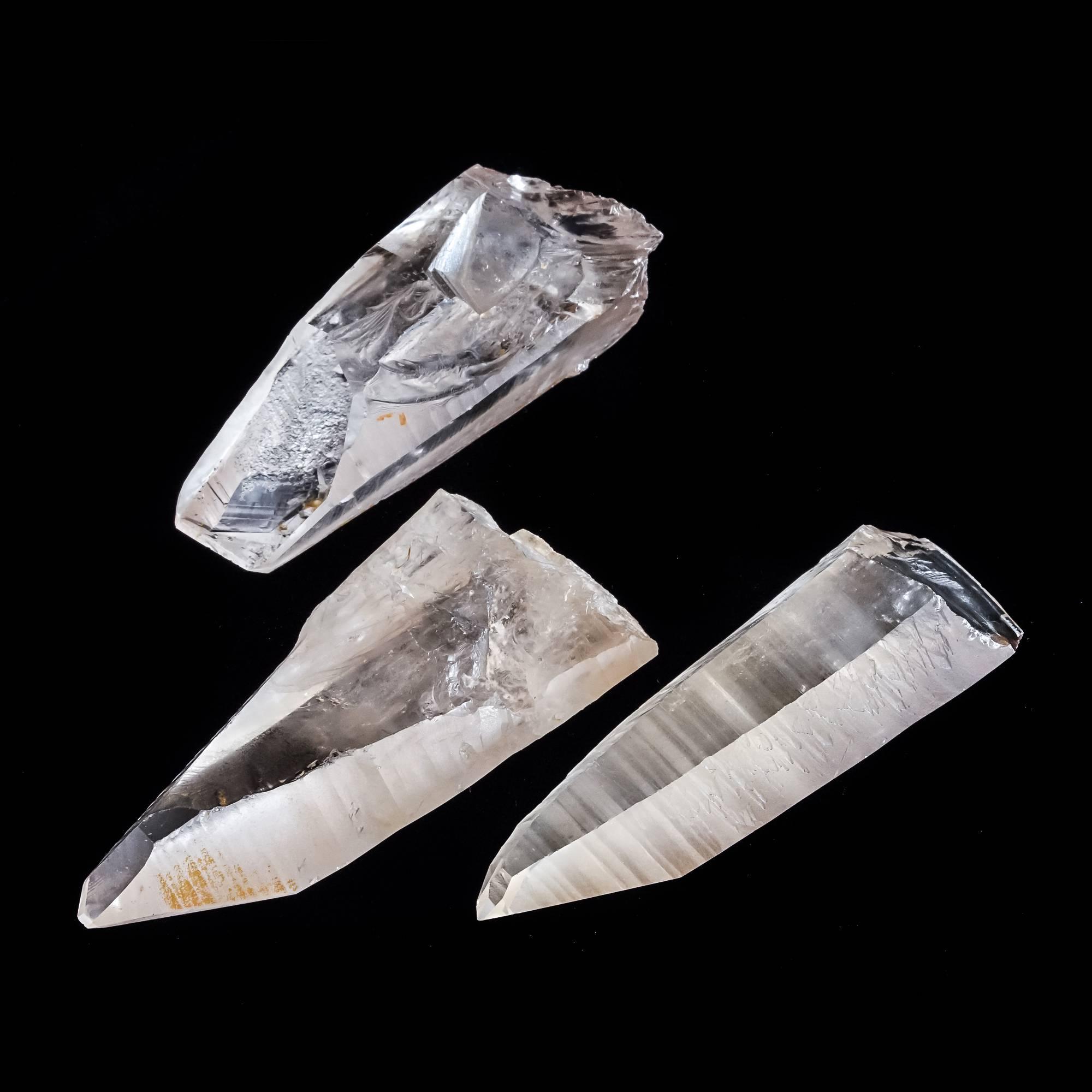 Lemurian light crystal specimens