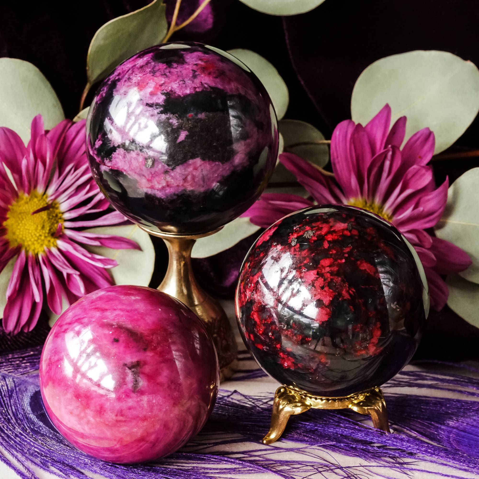 plum blossom jade spheres