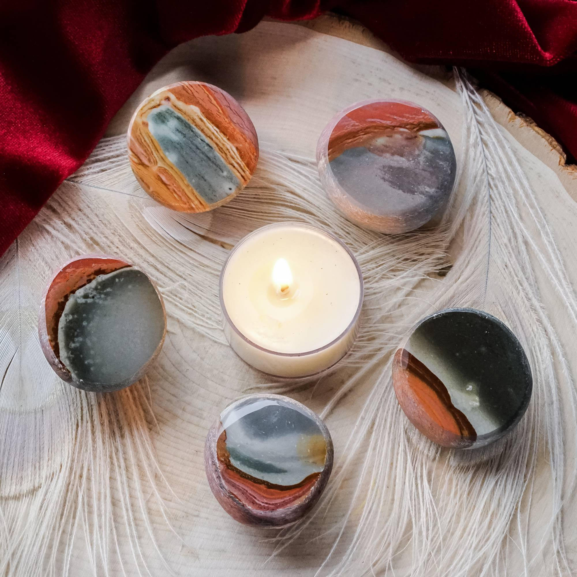 polychrome jasper seer stones