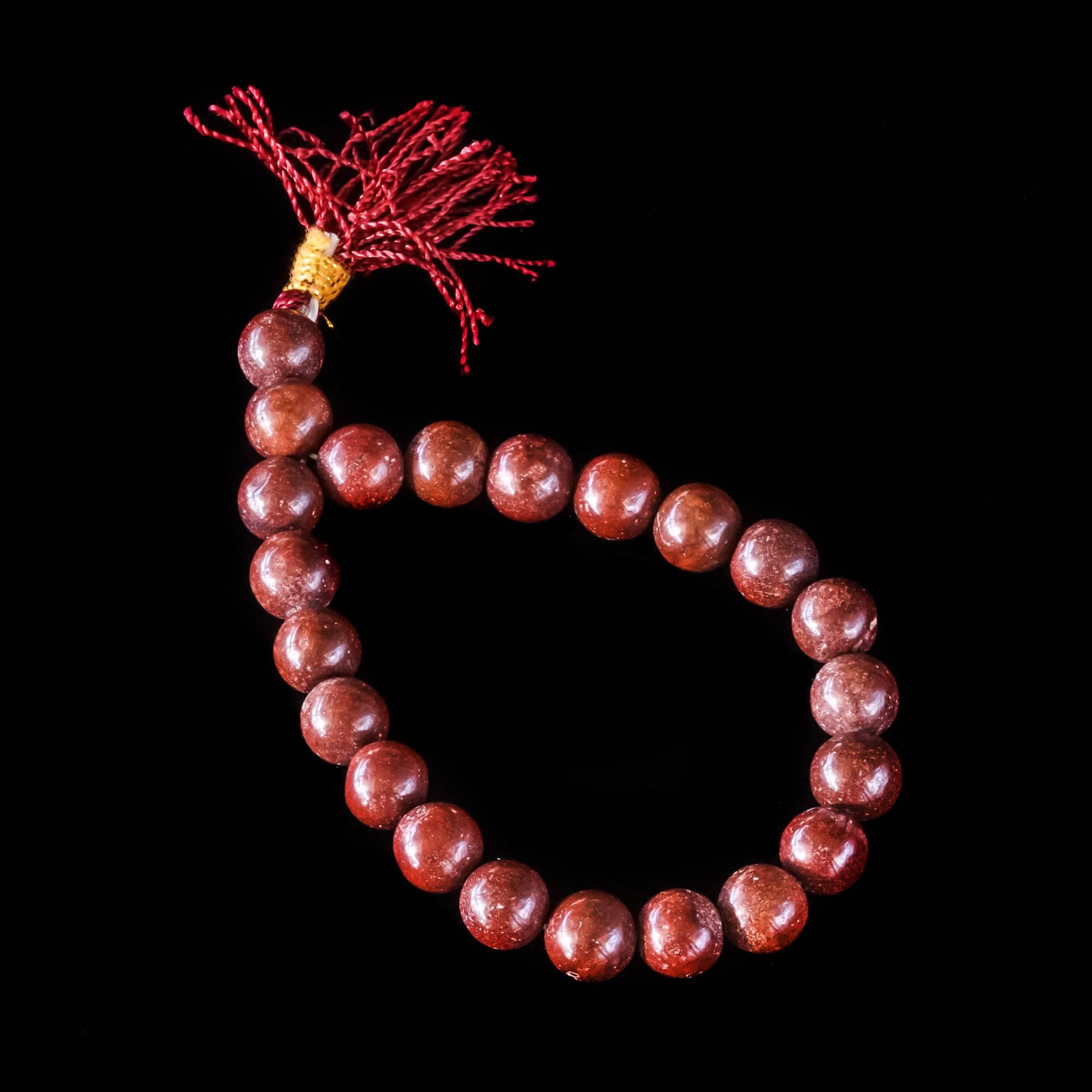 red jasper mala bracelets