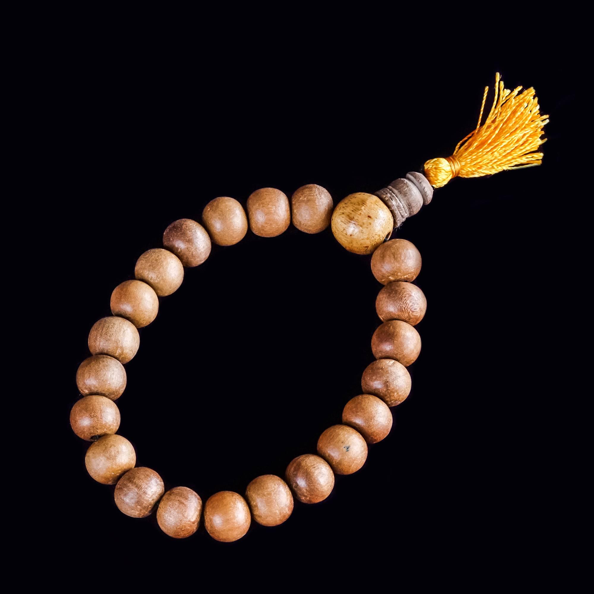 Sandalwood Mala Bracelets for meditation and connection to Spirit