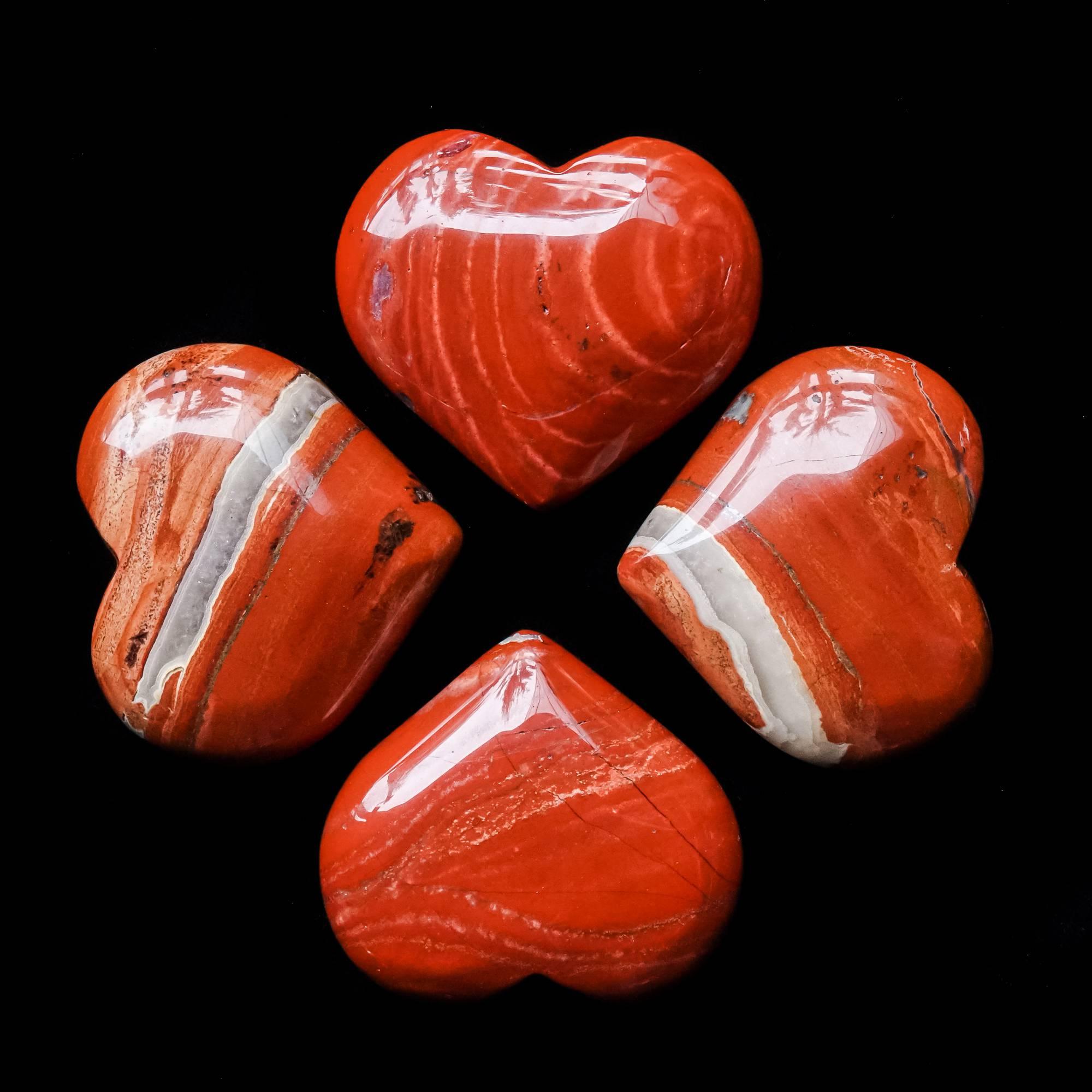 snakeskin jasper hearts