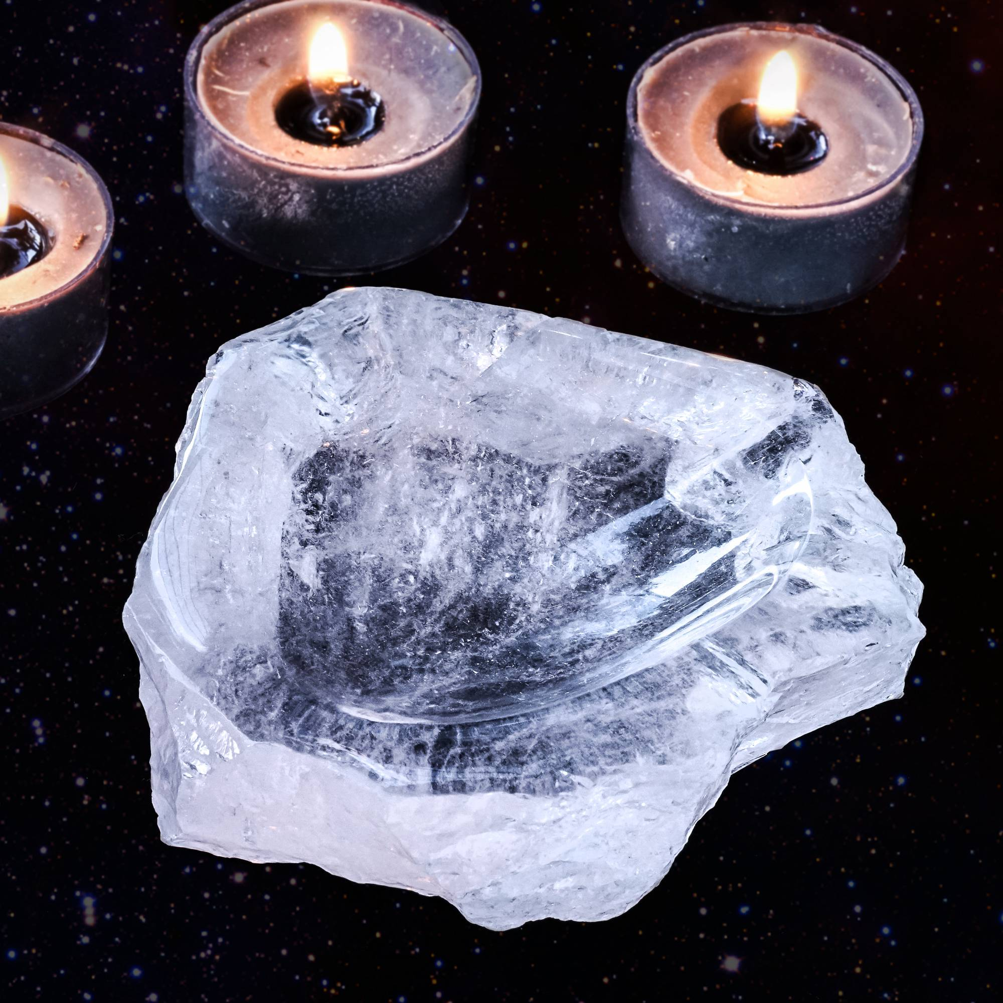 crystal offering dish