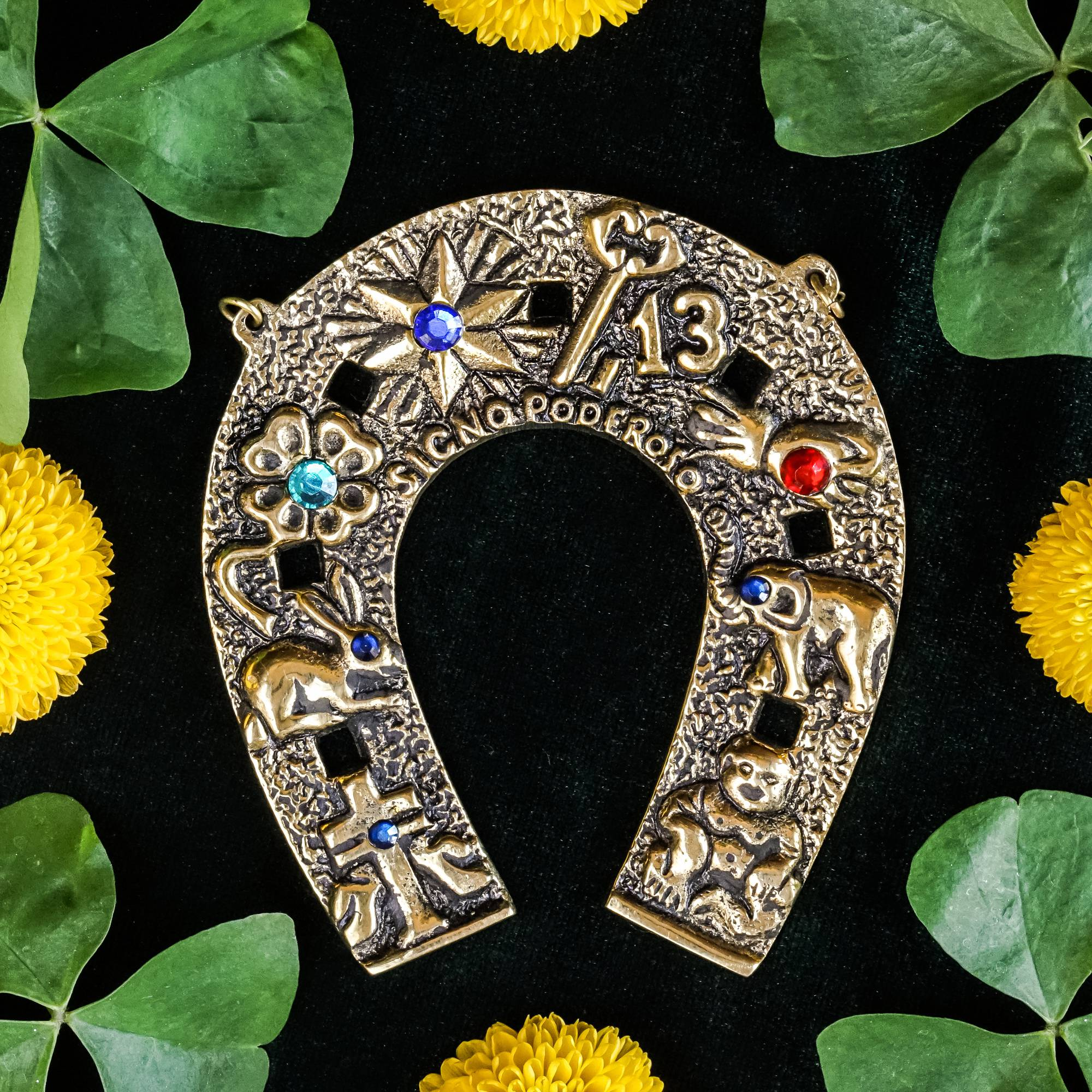 Brass horseshoe wall hanging for good luck and protection biocorpaavc Choice Image