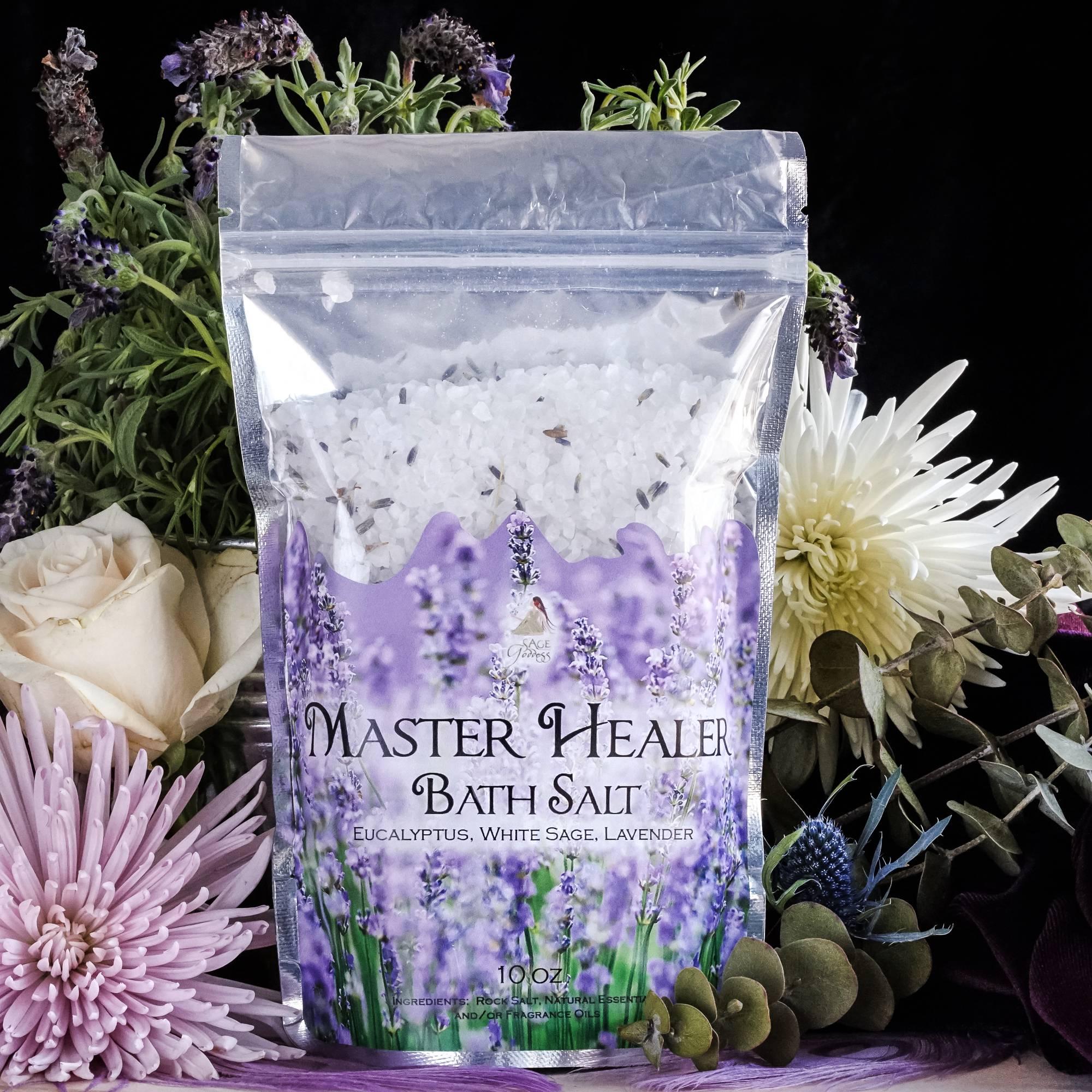 Master Healer Bath Salts for rejuvenation and transcendent luxury